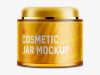 Body Cream Jar Mockup