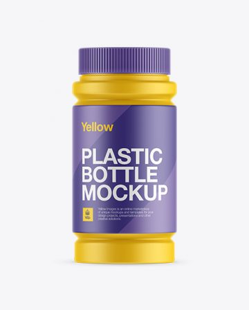 Matte Plastic Pill Bottle Mockup