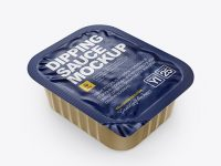 Dipping Sauce With Foil Closure Mockup (High-Angle Shot)
