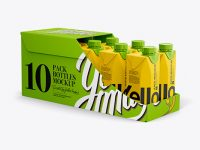 10 Drink Carton Boxes in Shelf-ready Package (Opened) - Halfside View