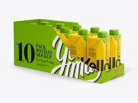 10 Drink Carton Boxes in Shelf-ready Package (Full - Opened) - Halfside View
