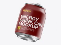 250ml Matte Aluminium Can Mockup