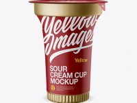 Metallic Sour Cream Cup Mockup