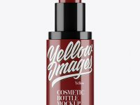 Glossy Cosmetic Spray Bottle Mockup - Front View