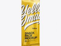 Glossy Snack Pack Mockup - Half Side View