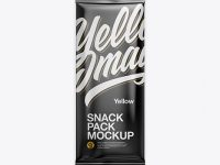 Matte Snack Pack Mockup - Front View
