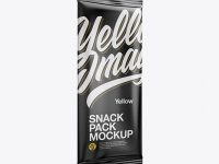 Matte Snack Pack Mockup - Half Side View
