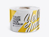 Toilet Tissue Pack Mockup - Half Side View