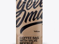 16oz Paper Coffee Bag Mockup - Front View