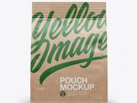 Kraft Pouch Mockup - Front View