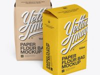 Two Paper Flour Bags Mockup