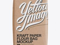 Kraft Paper Flour Bag Mockup - Front View