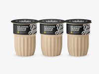 Matte Ice Coffee 3 K-Cups Package Mockup - Front View (High-Angle Shot)