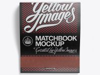 Carton Matchbook Mockup - Top View