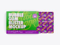 Chewing Gum in Blister Package Mockup - Bottom