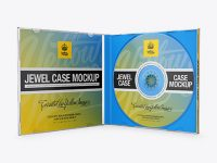 Open Jewel Case With Disc Mockup