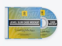 Jewel Slim Case with Disc Mockup - Front View
