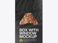Box with Window Mockup - Front & Back Views