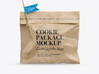 Kraft Cookie Package Mockup