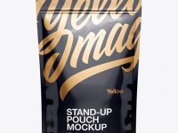 Glossy Stand Up Pouch W/ Zipper Mockup - Front View