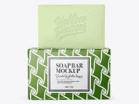 Glossy Pack With Soap Mockup