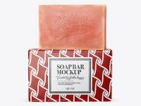 Glossy Pack With Orange Soap Mockup