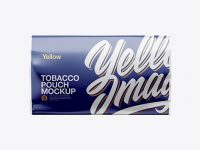 50g Tobacco Pouch Mockup - Front View