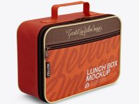 Lunch Box Mockup - Half Side View