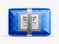 Metallic Soap Package Mockup - Front View