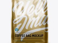 Metallic Coffee Bag - Front View