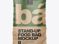 Kraft Stand-up Bag Mockup - Front View