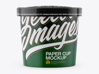 Paper Cup Mockup - Front View