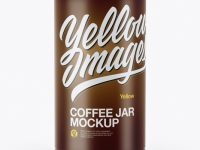 Matte Coffee Tin Can Mockup - Front View