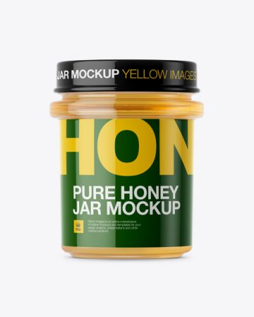 Pure Honey Jar Mockup - Front View