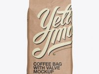 2,5 kg Kraft Coffee Bag With Valve Mockup - Front View