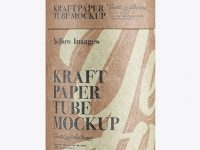 Small Kraft Paper Tube Mockup – Front View