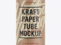 Medium Kraft Paper Tube w/ a Paper Label - Front View