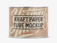 Small Kraft Paper Tube w/ a Paper Label - Front View