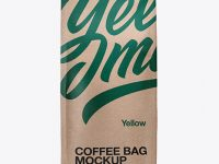 Kraft Bag with a Tin-Tie Mockup - Front View