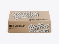 Textured Kraft Box Mockup - Front View (High-Angle Shot)