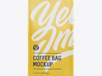 Matte Coffee Bag Mockup - Front View