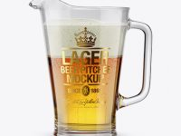 Lager Beer Pitcher Mockup