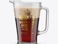 Red Ale Pitcher Mockup
