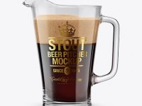 Stout Beer Pitcher Mockup