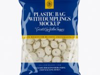 Clear Plastic Bag With Dumplings & Glossy Finish Mockup