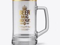 Empty Tankard Glass Mug Mockup