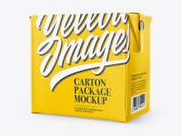 500g Carton Package Mockup  - Half Side View