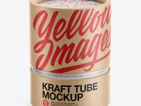 Kraft Tube Mockup - Front View (High-Angle Shot)