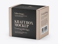 Kraft Box Mockup - Half Side View (High-Angle Shot)