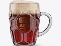 Britannia Glass With Red Ale Mockup